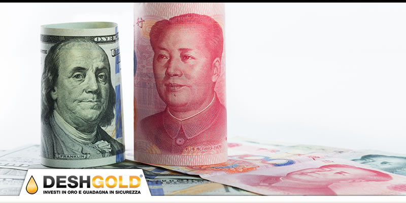 dollaro americano e yuan cinese