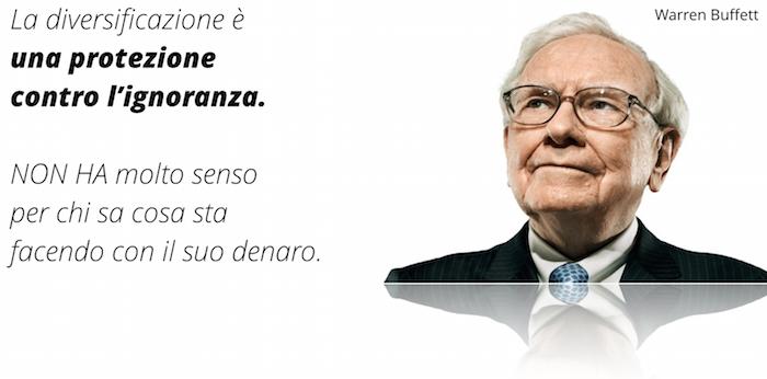come diversificare gli investimenti secondo Warren Buffett